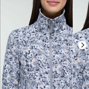 Lululemon Nice Asana Jacket Sz 6 Grey Speckle RARE
